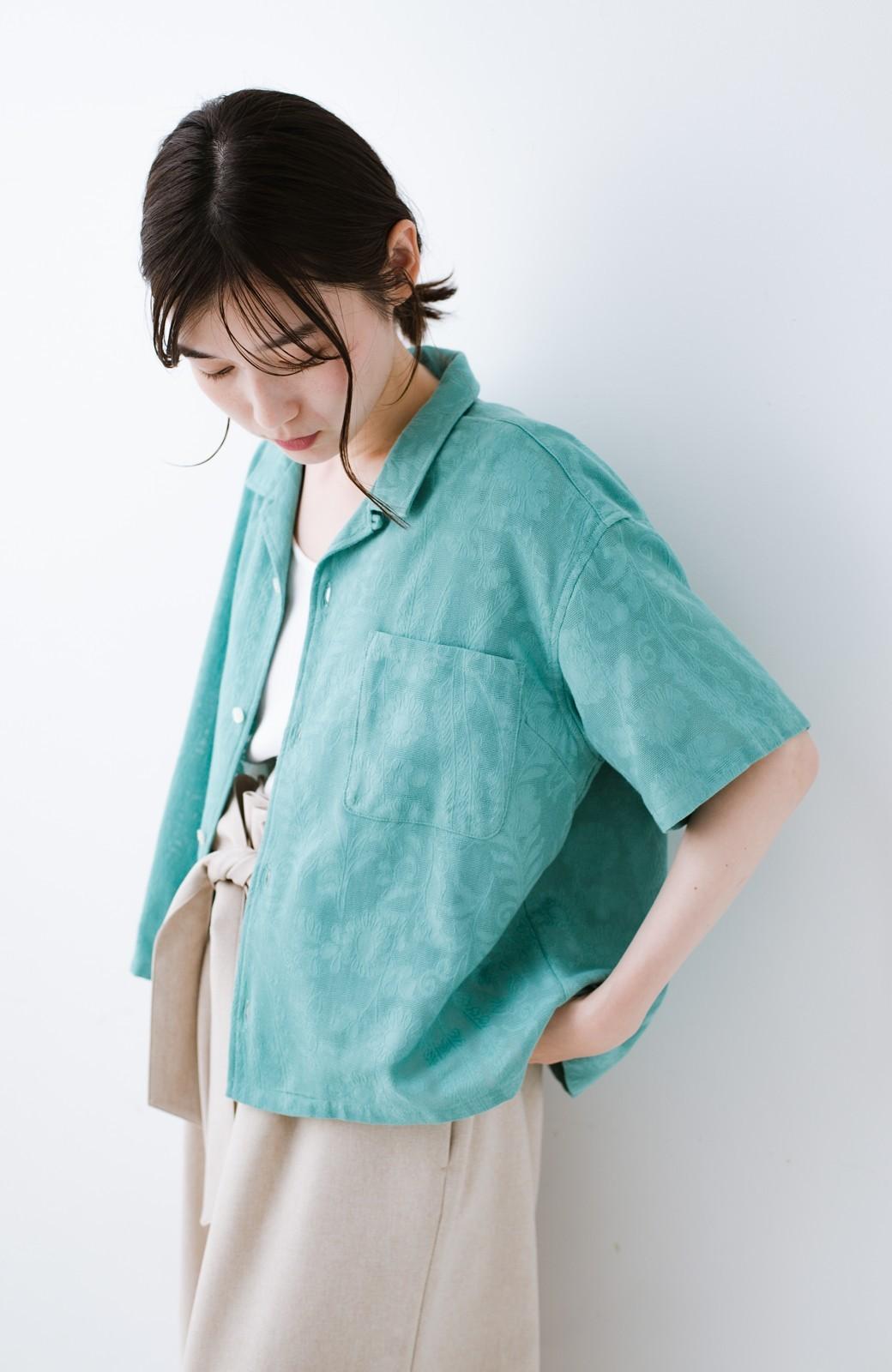 haco! 【今年も再販!】京都の浴衣屋さんと作った浴衣生地のシャツ <グリーン>の商品写真18