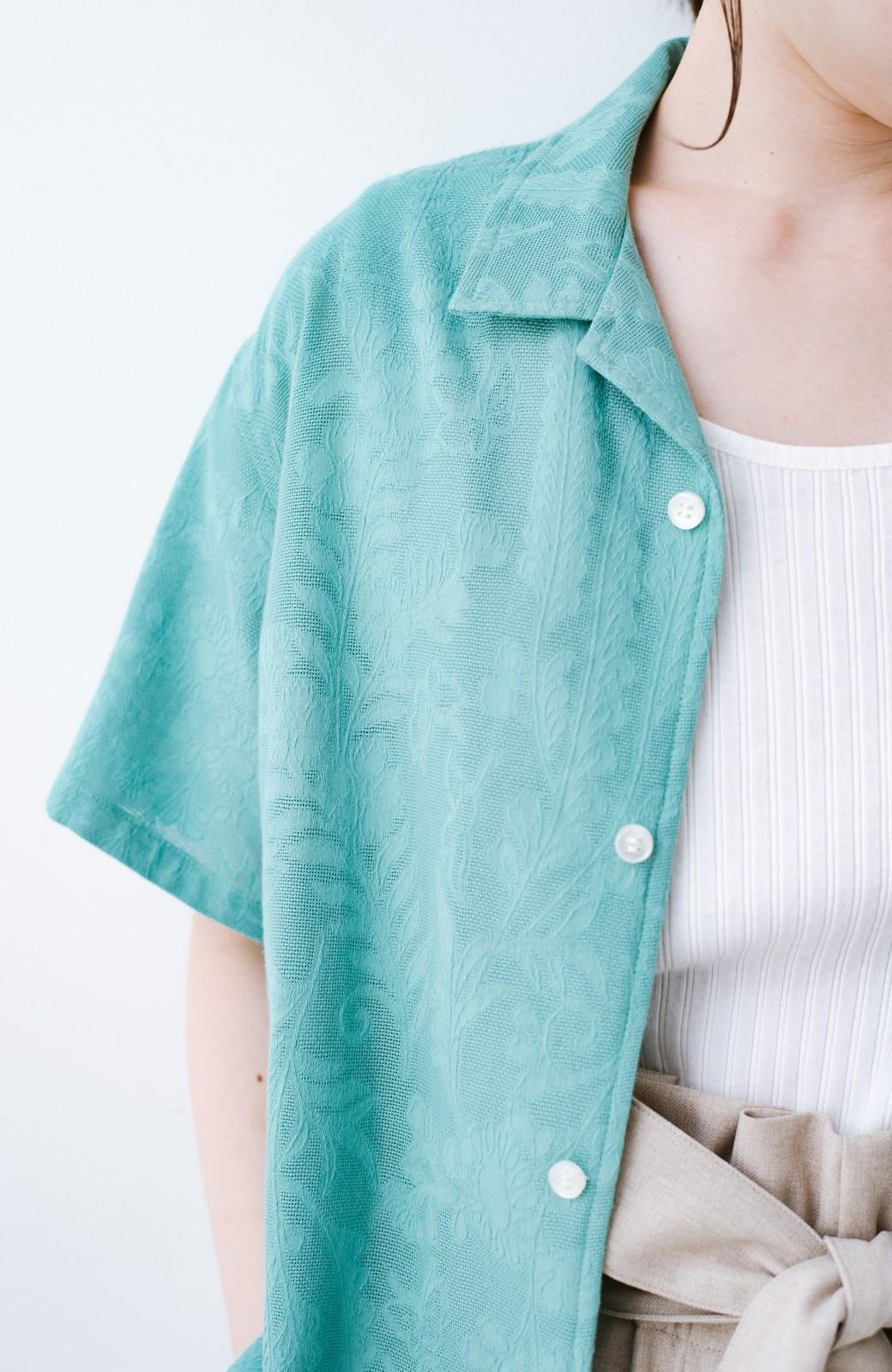 haco! 【今年も再販!】京都の浴衣屋さんと作った浴衣生地のシャツ <グリーン>の商品写真9