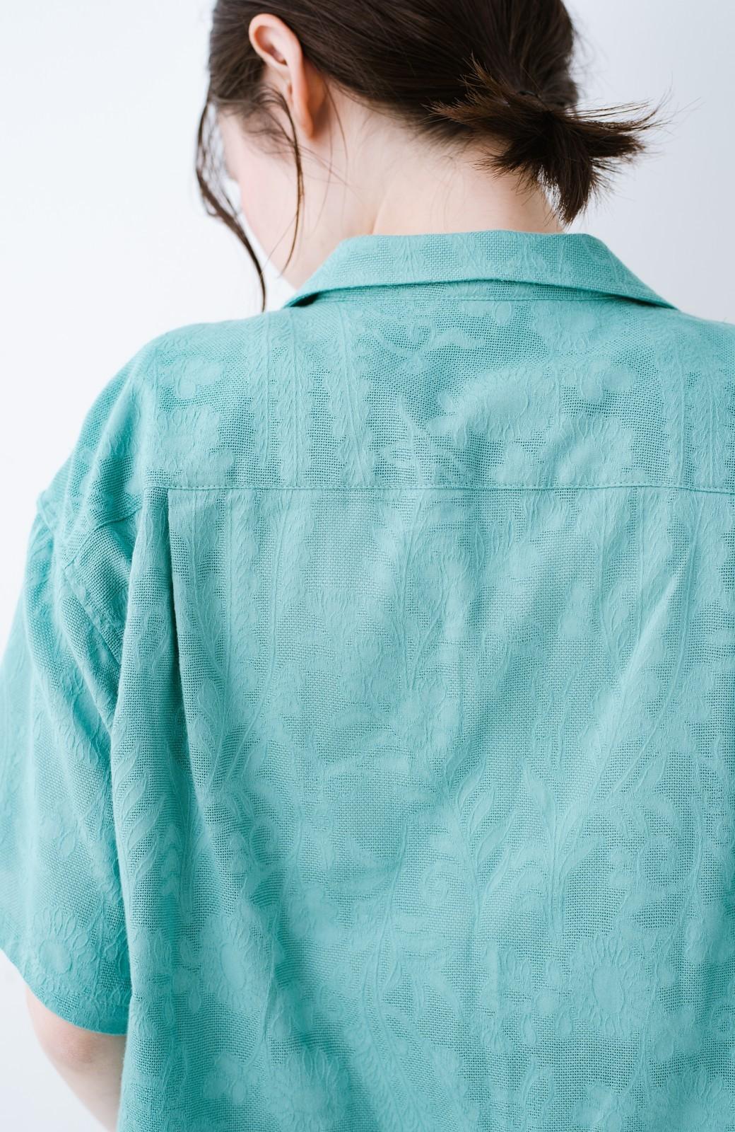 haco! 【今年も再販!】京都の浴衣屋さんと作った浴衣生地のシャツ <グリーン>の商品写真10