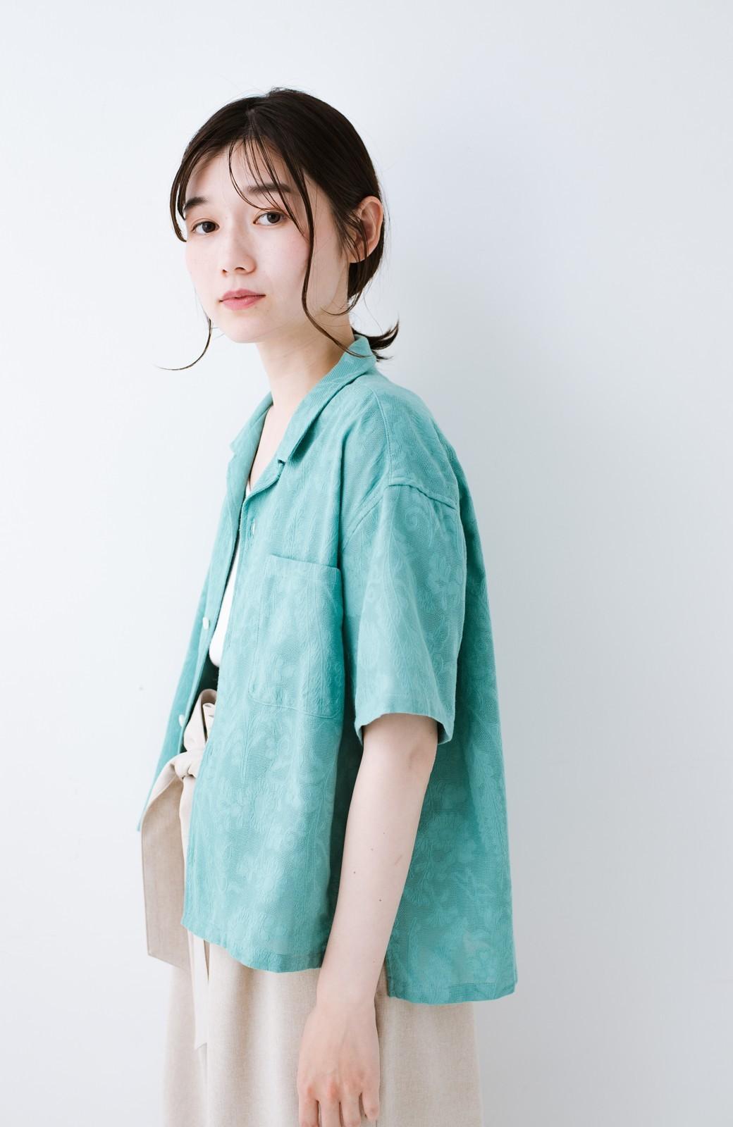 haco! 【今年も再販!】京都の浴衣屋さんと作った浴衣生地のシャツ <グリーン>の商品写真16