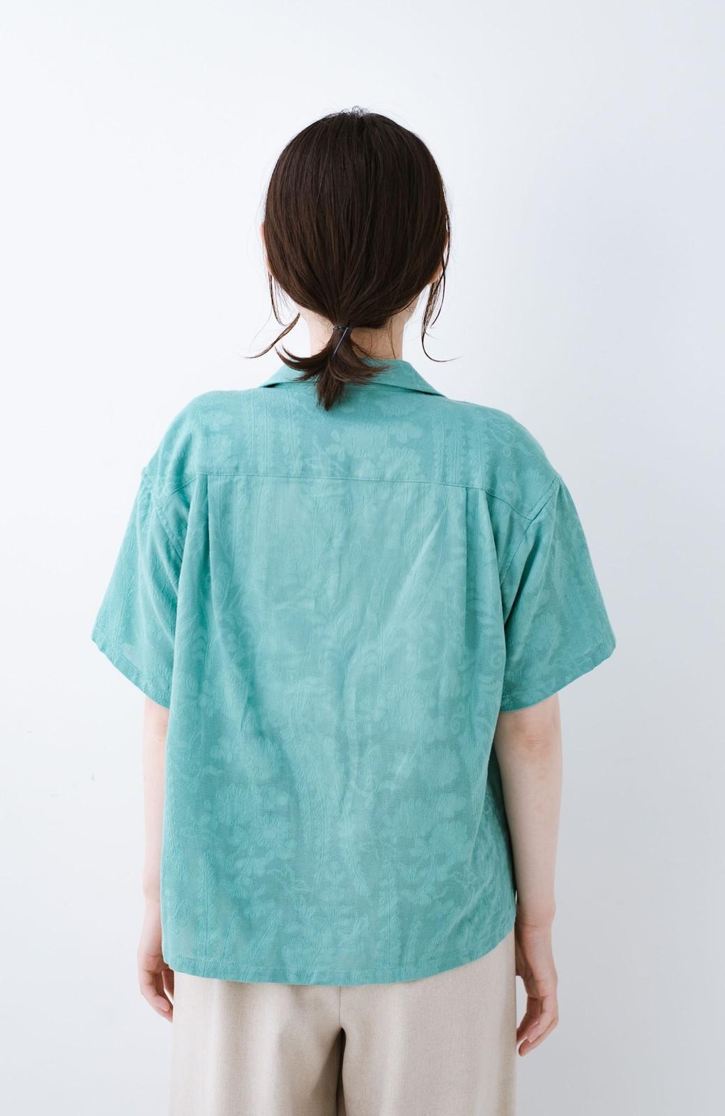 haco! 【今年も再販!】京都の浴衣屋さんと作った浴衣生地のシャツ <グリーン>の商品写真27