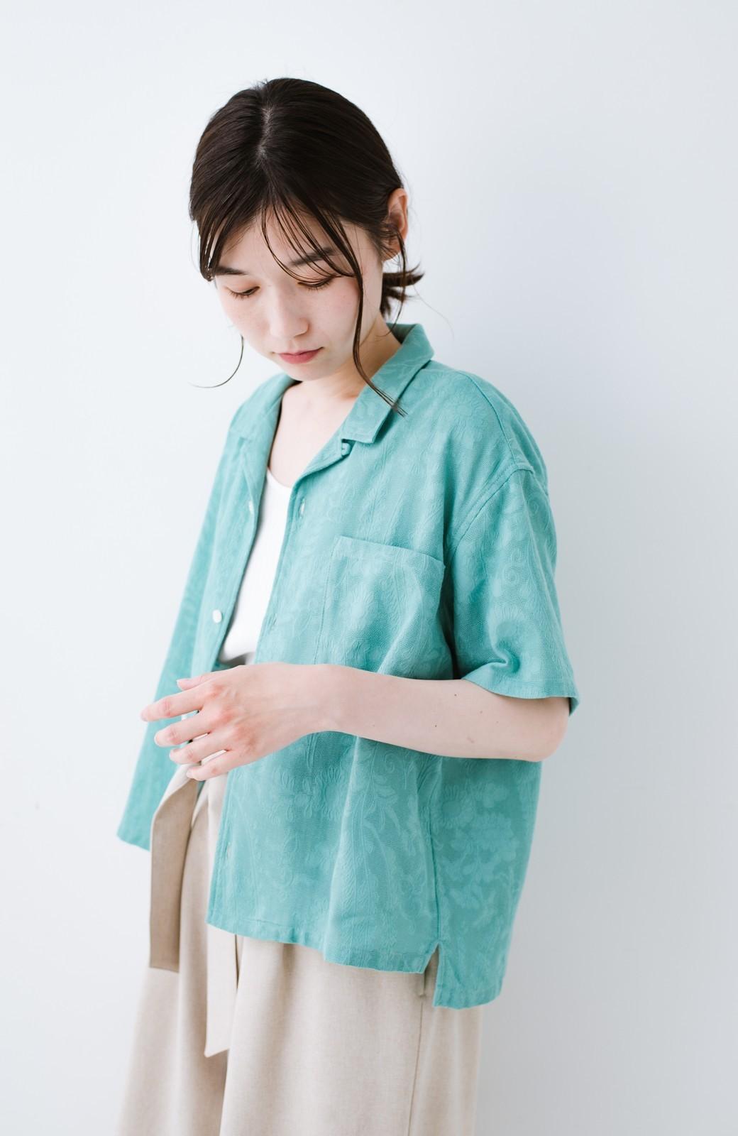 haco! 【今年も再販!】京都の浴衣屋さんと作った浴衣生地のシャツ <グリーン>の商品写真4