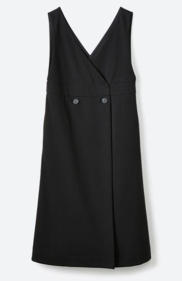 haco! 【ブラック残りわずか!】頑張りすぎずにちゃんとかわいい カットソージャンパースカート <ブラック>の商品写真