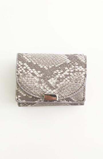 haco! Legato Largo フェイクレザー三つ折りミニ財布 <グレー系その他>の商品写真