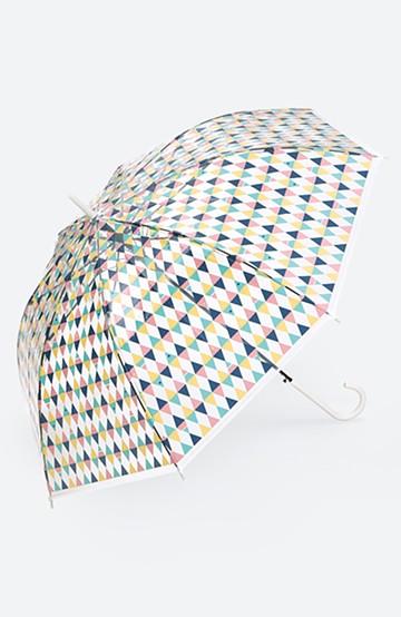 haco! Wpc. 透明傘もかわいくいたい プラスティックアンブレラ サカナチェック <ピンク>の商品写真