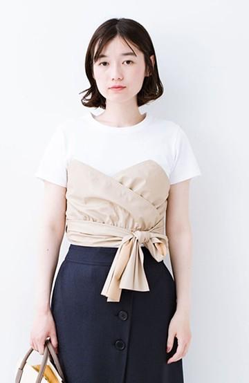 haco! Tシャツを女っぽく着こなせるオトナセットbyMAKORI <ホワイト>の商品写真