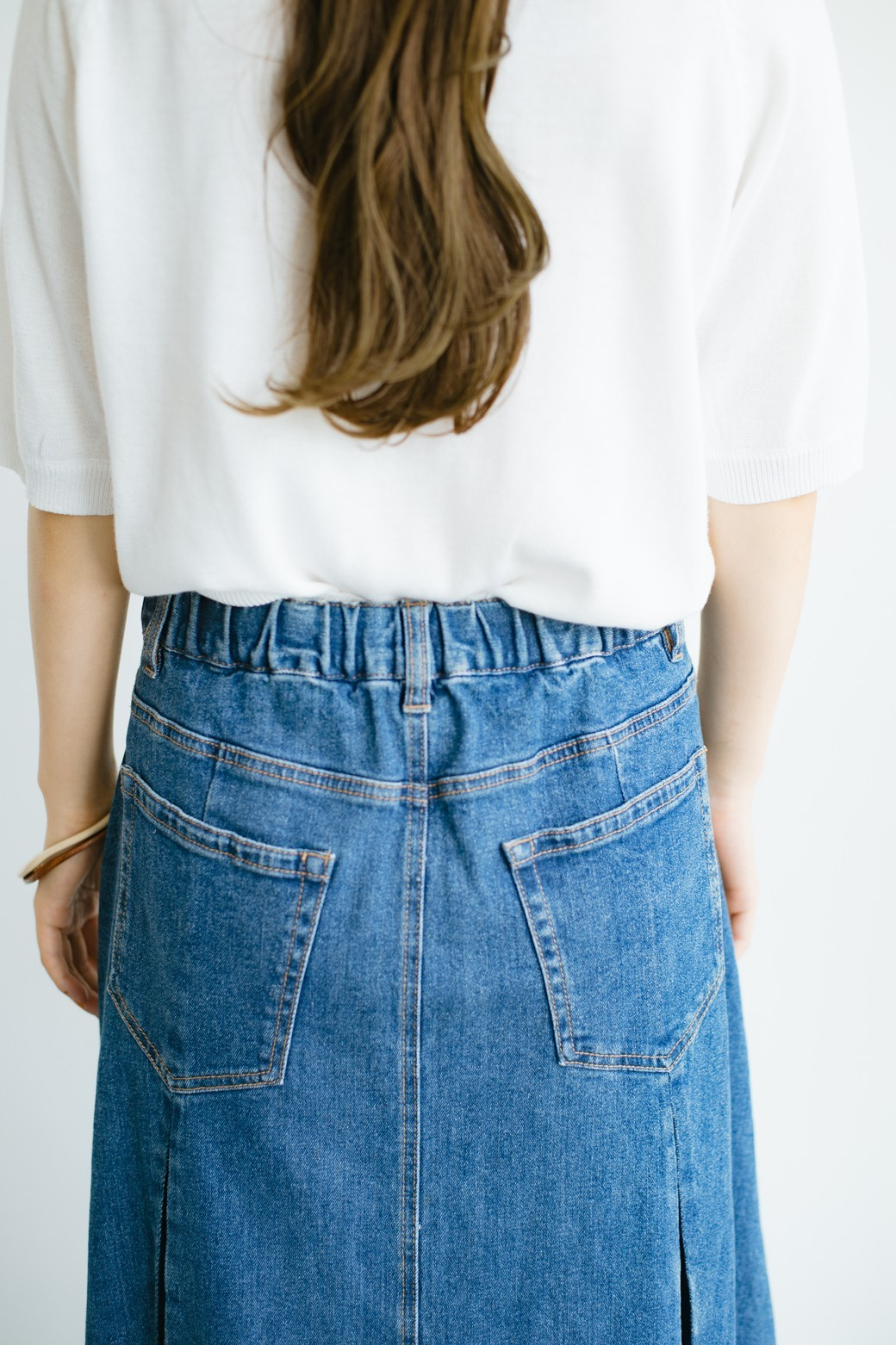 haco! 【再再再入荷!】デニムパネルプリーツスカート <ブルー>の商品写真17