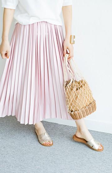 haco! 【残りわずか!】【加齢党】大人たちを艶やかに華やかにすっきり見せてくれる 褒められプリーツスカート <ピンク>の商品写真