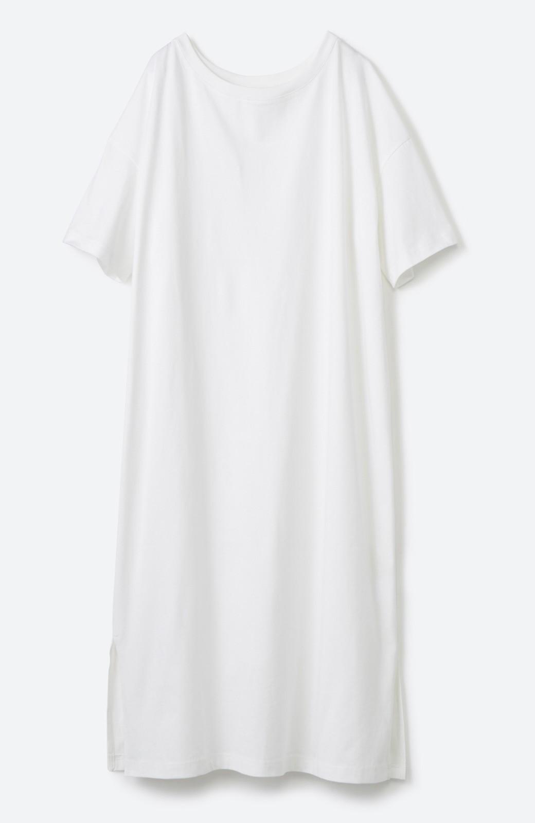 haco! 【ずぼら党】すぽっと着るだけ即完成! ずぼらさんのための気取らず着られて洗濯機洗いできるワンピ2枚セット <ホワイト×ネイビー>の商品写真32