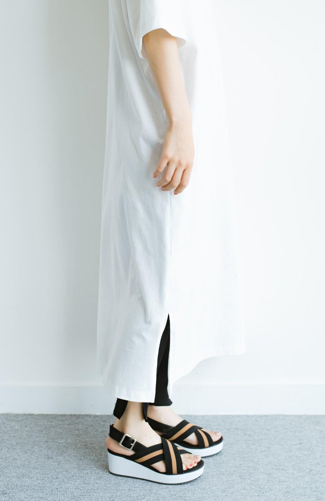 haco! 【ずぼら党】すぽっと着るだけ即完成! ずぼらさんのための気取らず着られて洗濯機洗いできるワンピ2枚セット <ホワイト×ネイビー>の商品写真10