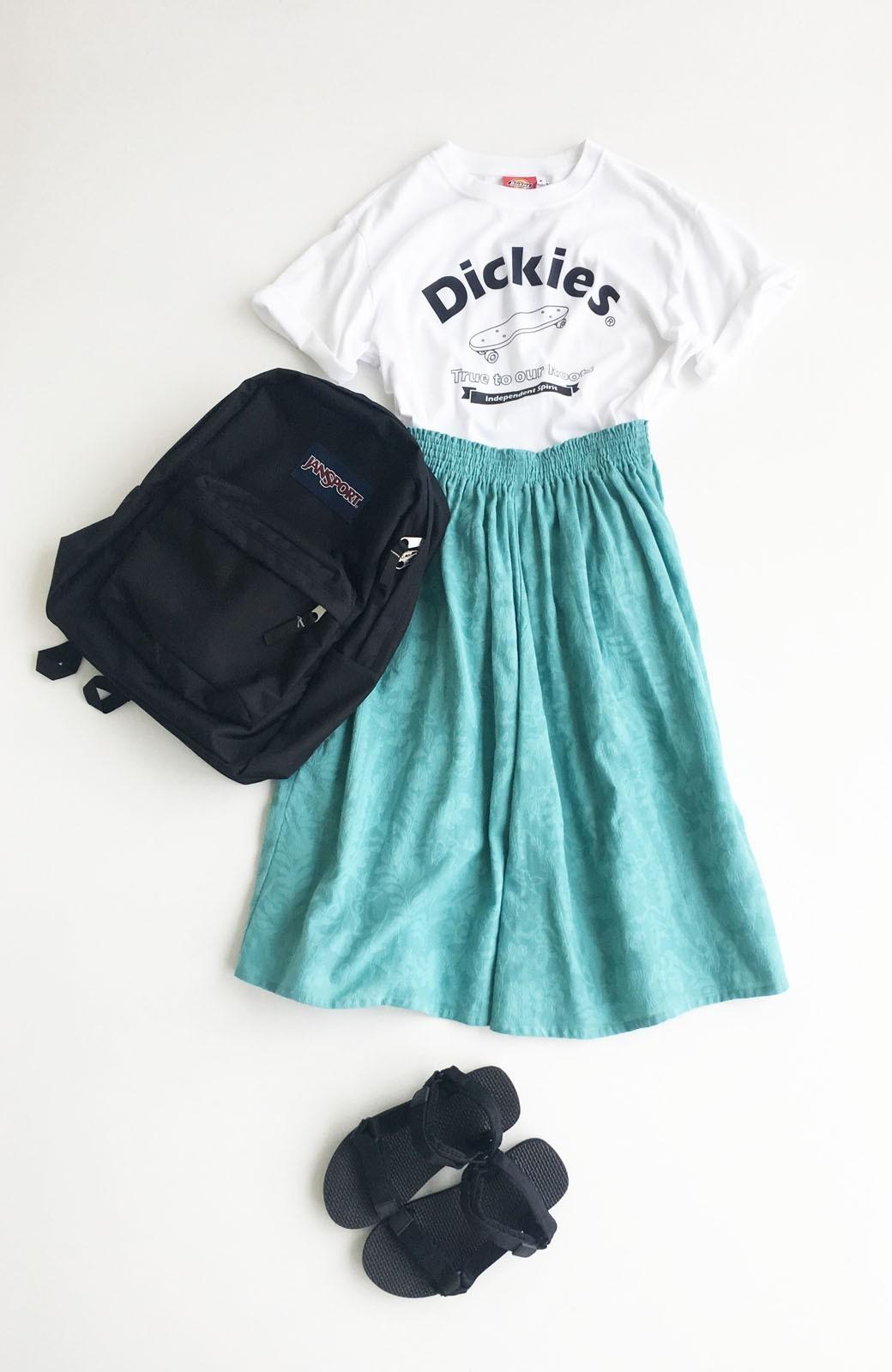 haco! 【コラボ3年目!】京都の浴衣屋さんと作った浴衣生地のスカート <グリーン>の商品写真7