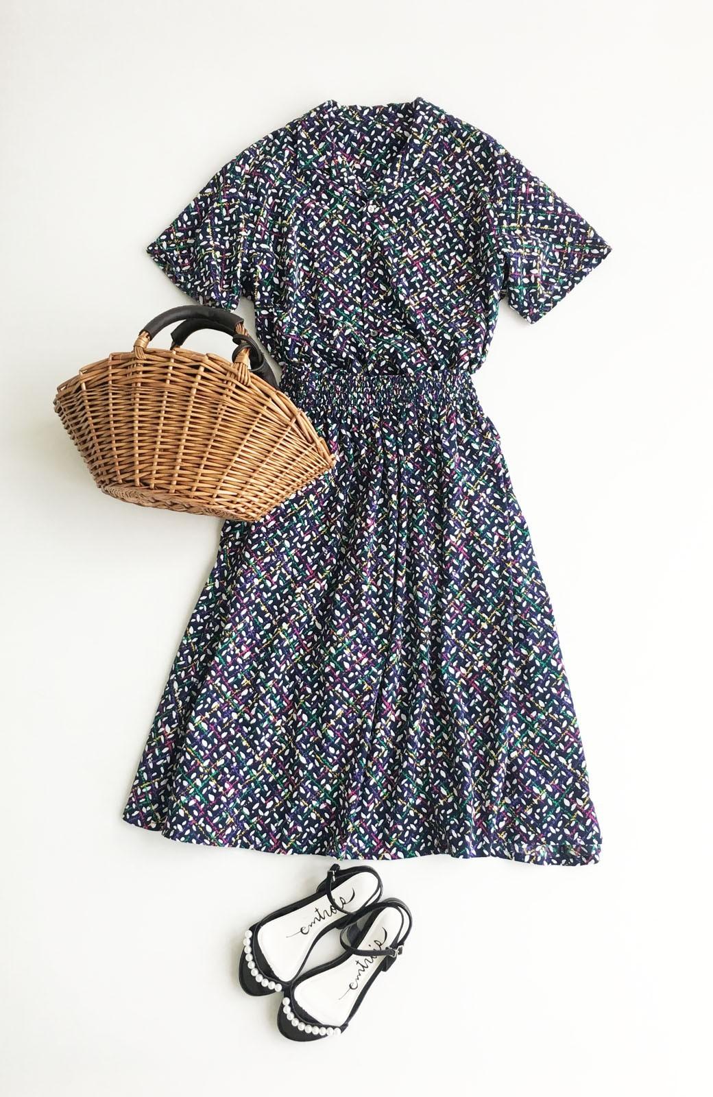 haco! 【コラボ3年目!】京都の浴衣屋さんと作った浴衣生地のスカート <ネイビー>の商品写真13