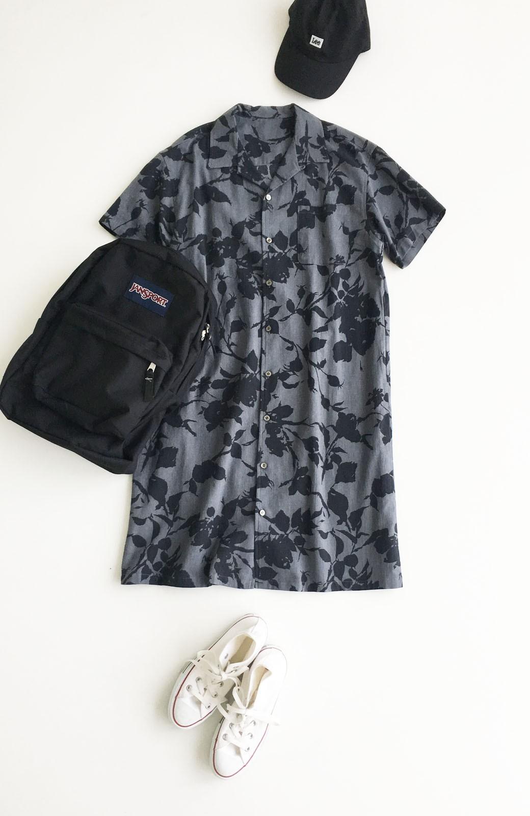 haco! 【コラボ3年目!】京都の浴衣屋さんと作った浴衣生地のシャツワンピース <グレー系その他>の商品写真9
