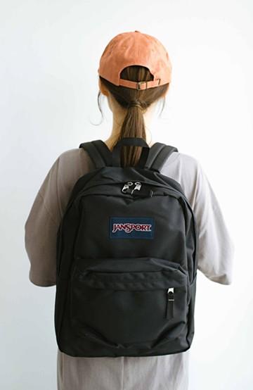 haco! 【新色追加】JANSPORT SUPERBREAK リュック <ブラック>の商品写真