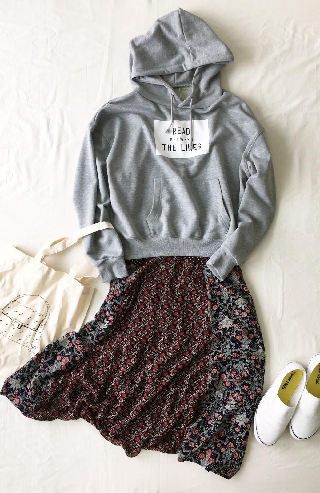 haco! 【洗濯機洗いOK】シンプルなトップスに合わせるだけでかわいくなれる MIX柄スカート <ブラック系その他>の商品写真19