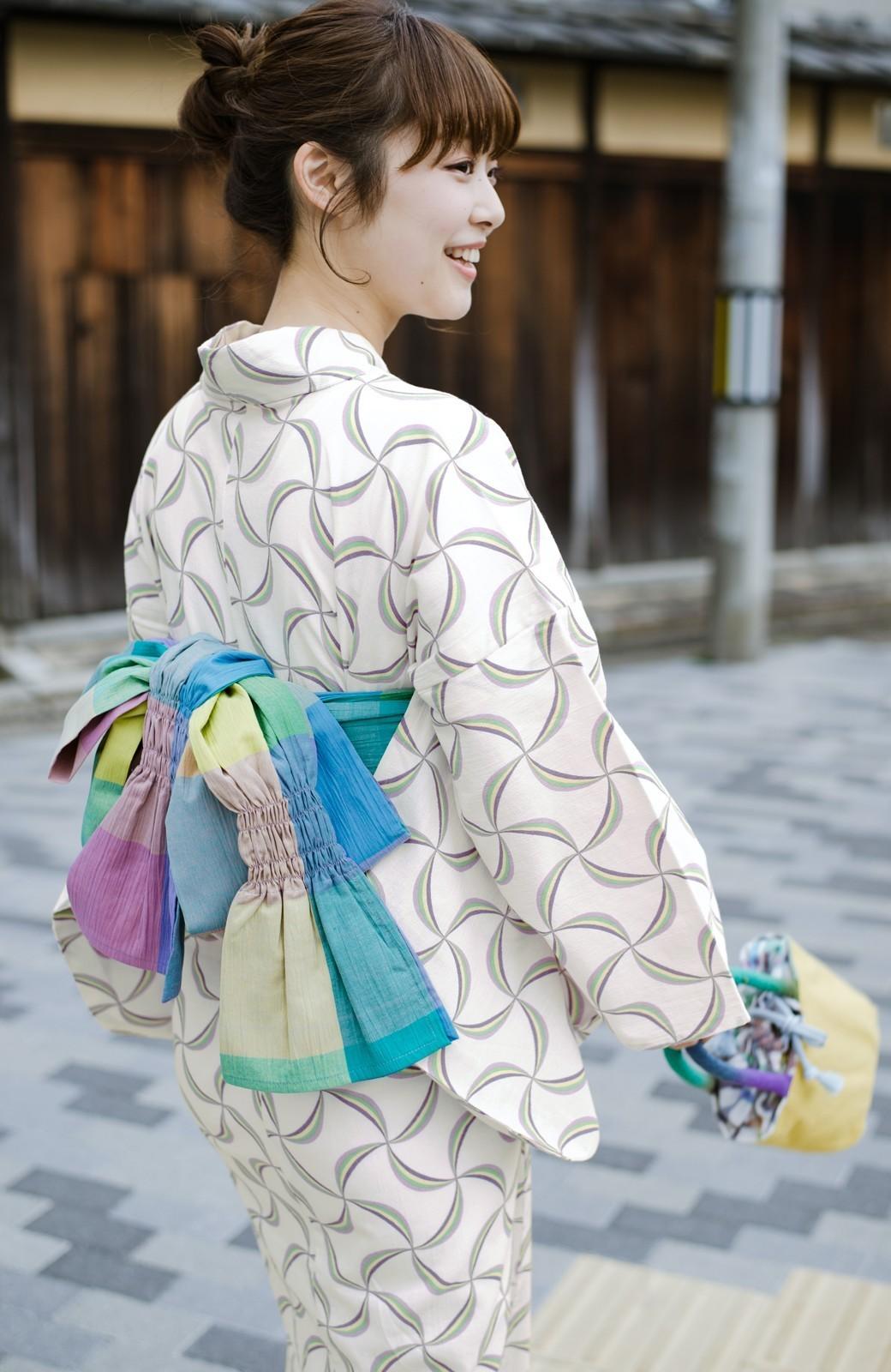 haco! ひでや工房 京都のへこ帯 大格子 <カラフル>の商品写真1