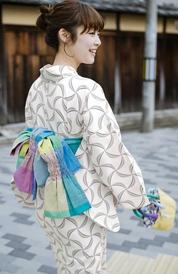 haco! ひでや工房 京都のへこ帯 大格子 <カラフル>の商品写真