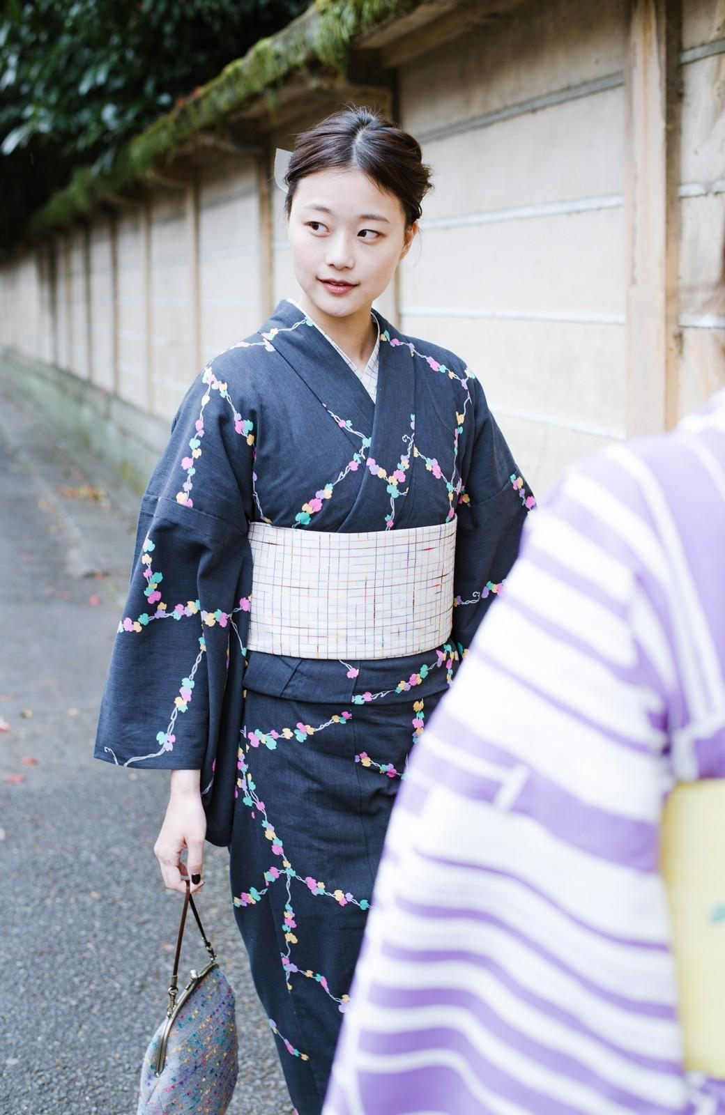 haco! ひでや工房 京都の半巾帯 小格子 <カラフル>の商品写真4