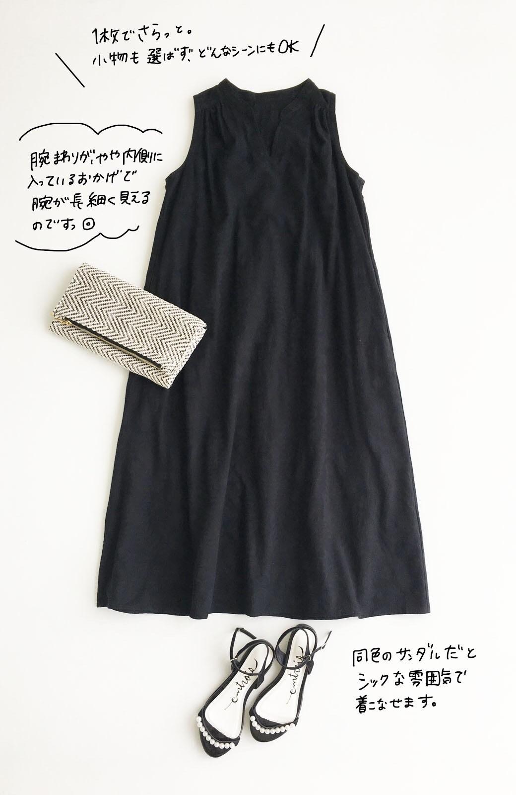 haco! \人気!/【再入荷】京都の浴衣屋さんと作った浴衣生地のロングワンピース <ブラック>の商品写真9