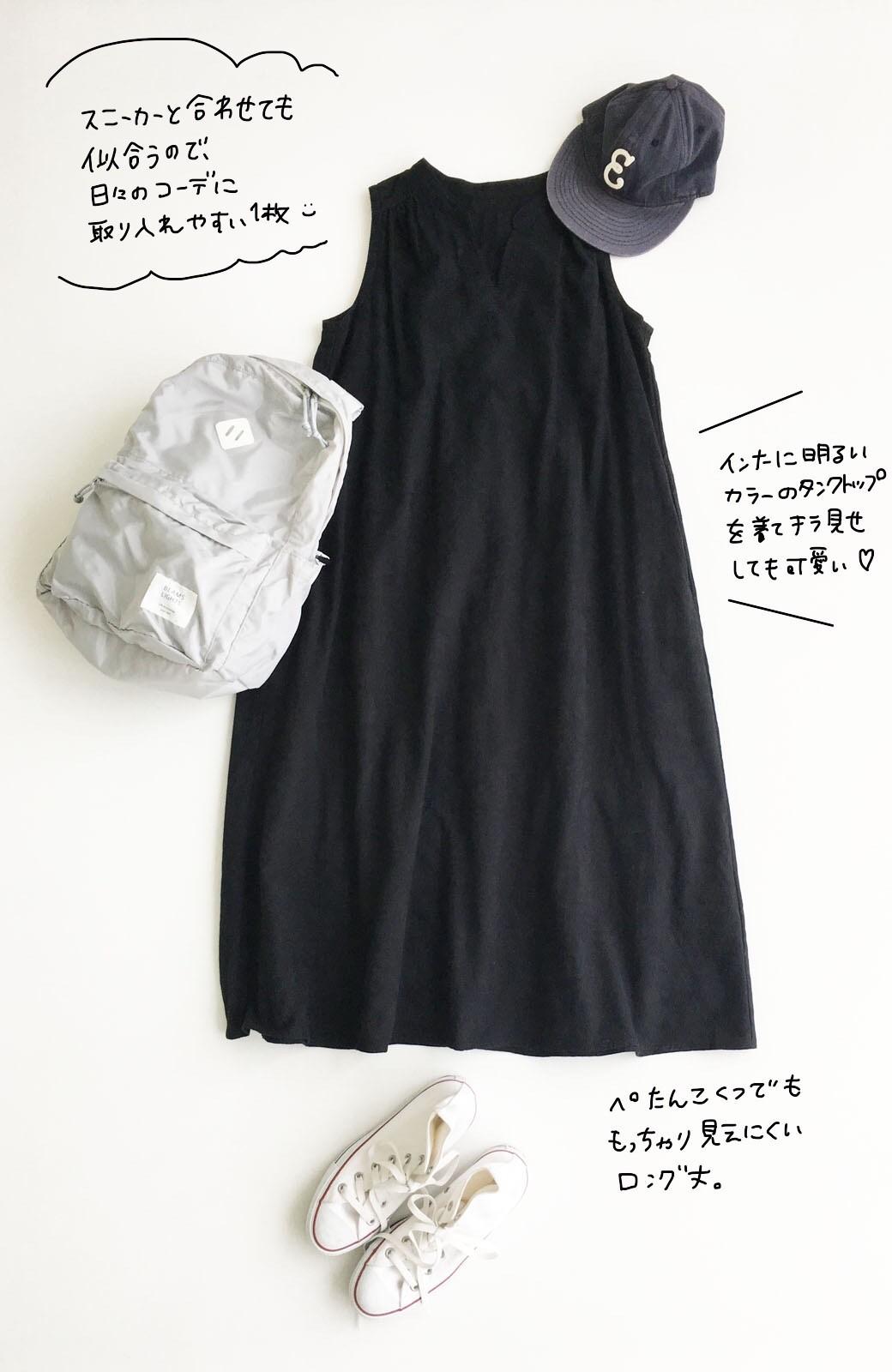 haco! \人気!/【再入荷】京都の浴衣屋さんと作った浴衣生地のロングワンピース <ブラック>の商品写真10