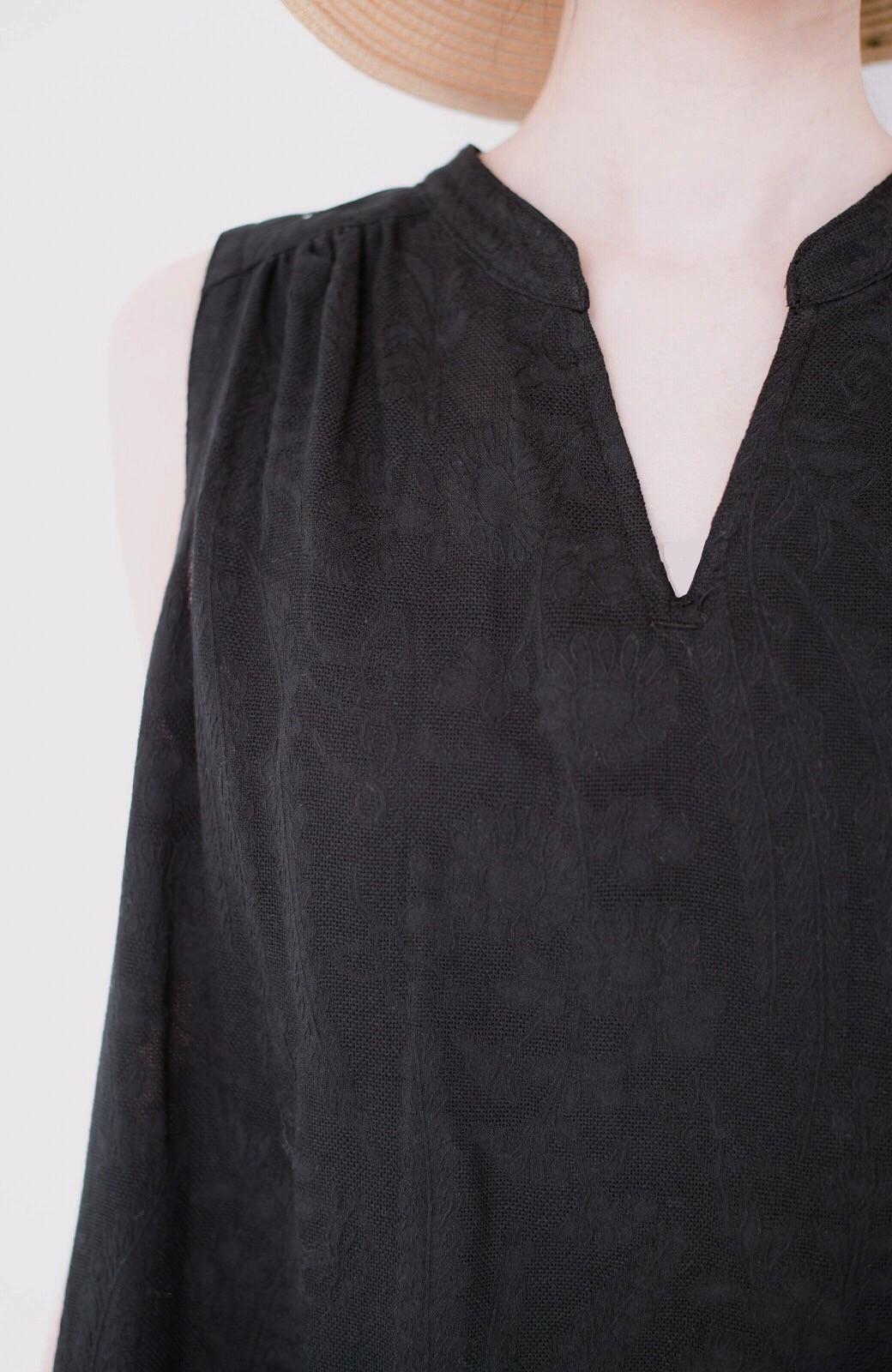 haco! \人気!/【再入荷】京都の浴衣屋さんと作った浴衣生地のロングワンピース <ブラック>の商品写真6