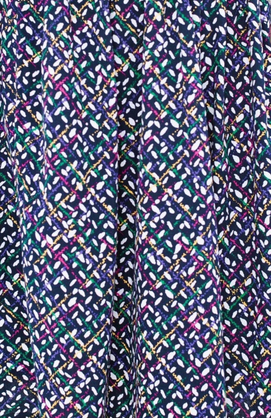 haco! 【コラボ3年目!】京都の浴衣屋さんと作った浴衣生地のスカート <ネイビー>の商品写真4