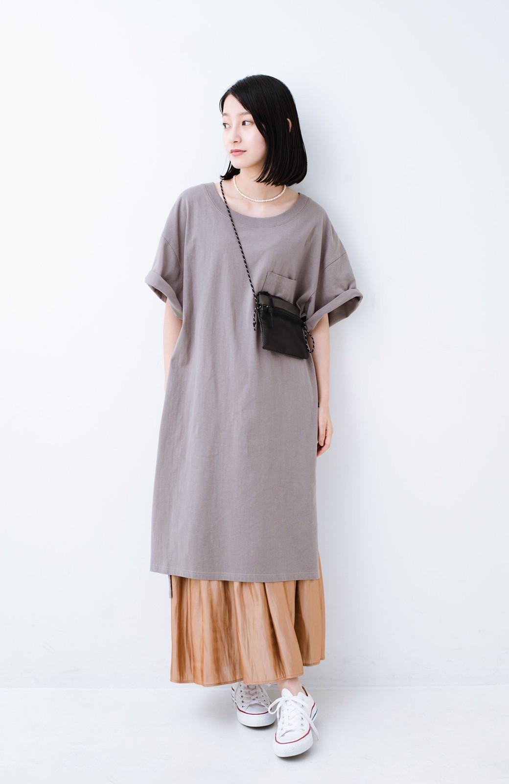 haco! 1枚でも重ね着にも便利なキラキラ素材がかわいいロングスカート by laulea <ライトブラウン>の商品写真9