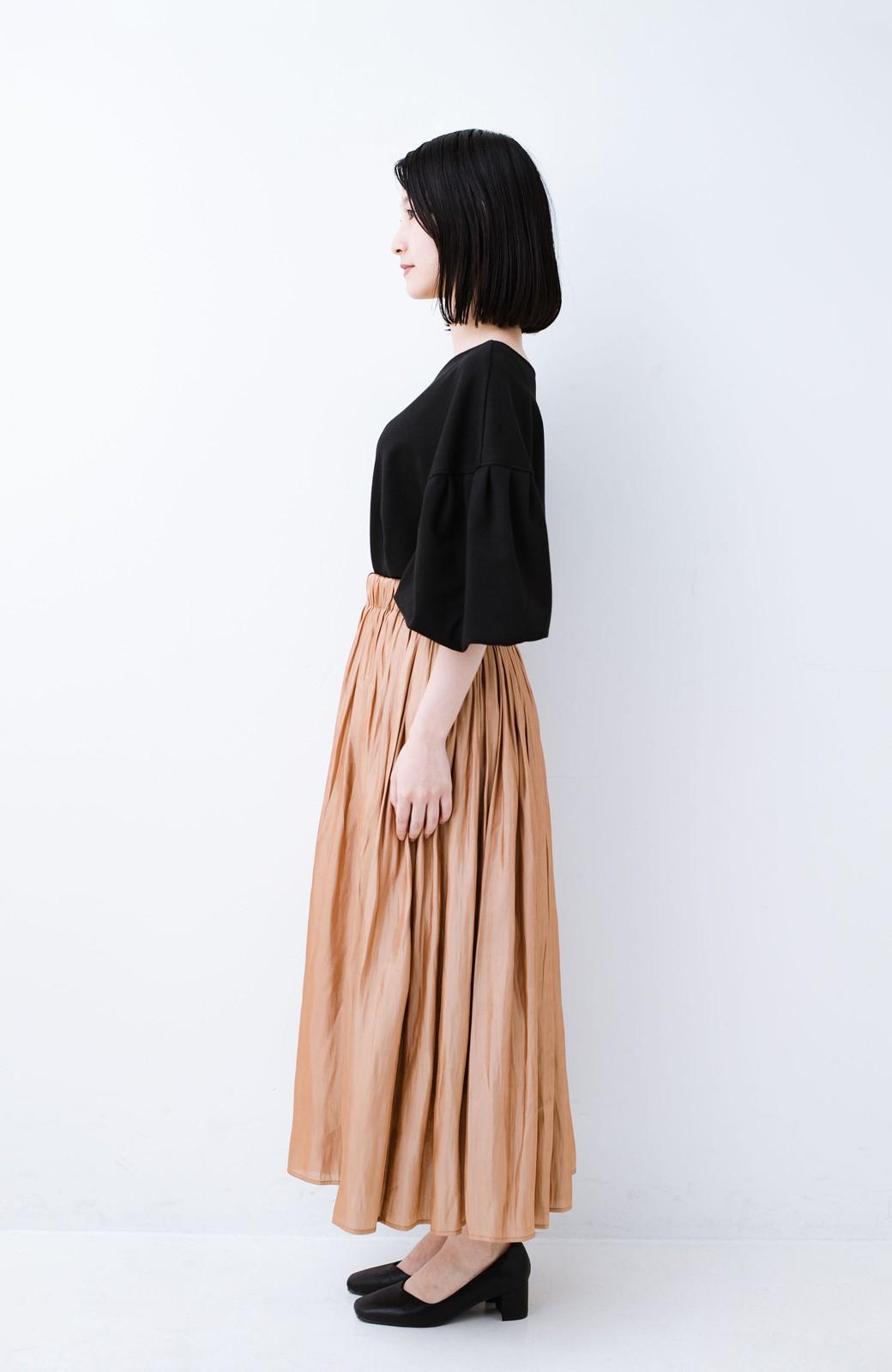 haco! 1枚でも重ね着にも便利なキラキラ素材がかわいいロングスカート by laulea <ライトブラウン>の商品写真10
