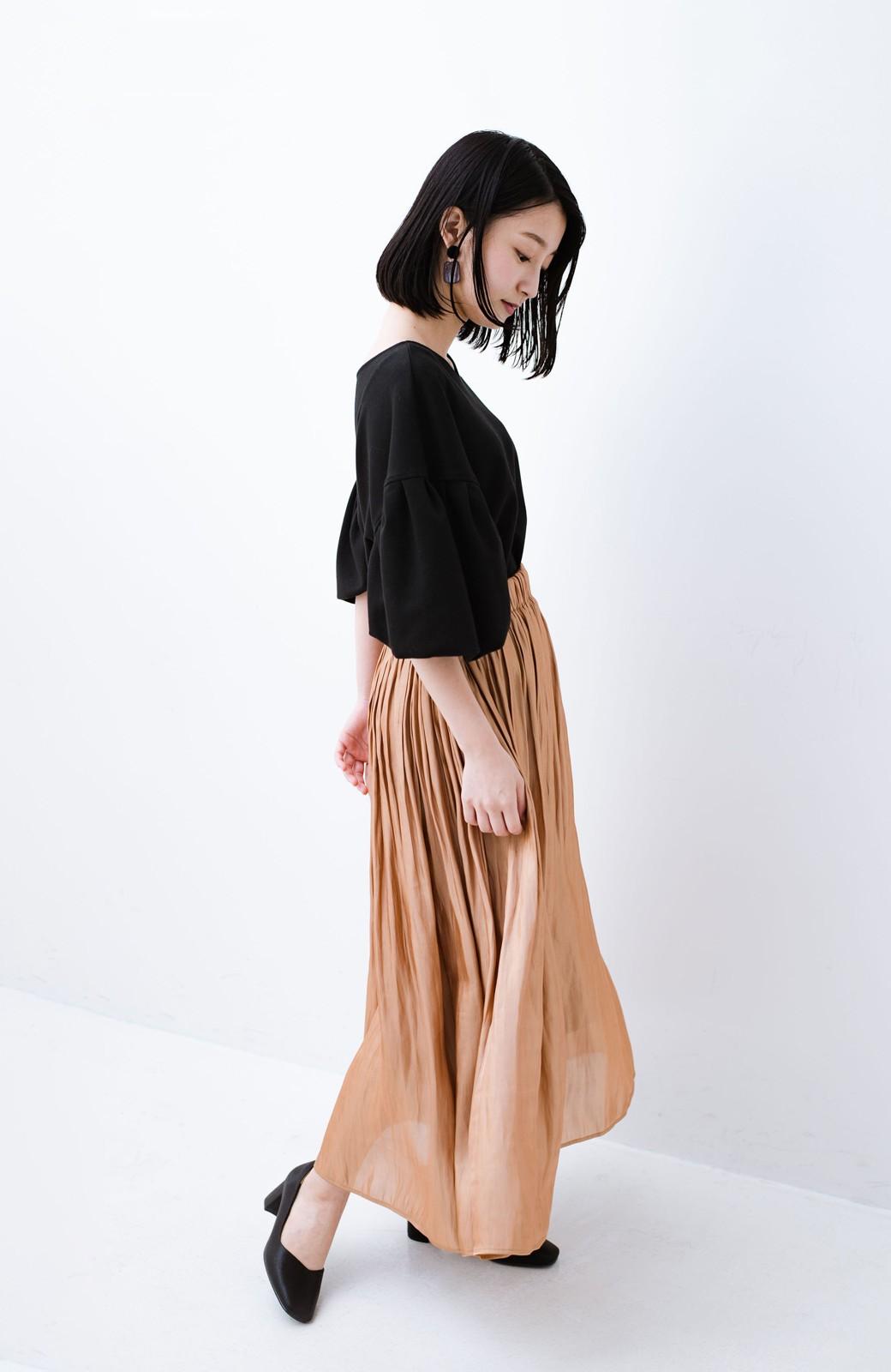 haco! 1枚でも重ね着にも便利なキラキラ素材がかわいいロングスカート by laulea <ライトブラウン>の商品写真12