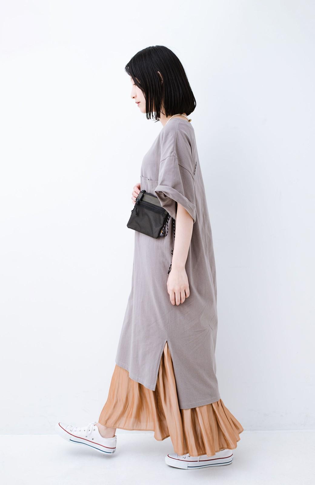 haco! 1枚でも重ね着にも便利なキラキラ素材がかわいいロングスカート by laulea <ライトブラウン>の商品写真13