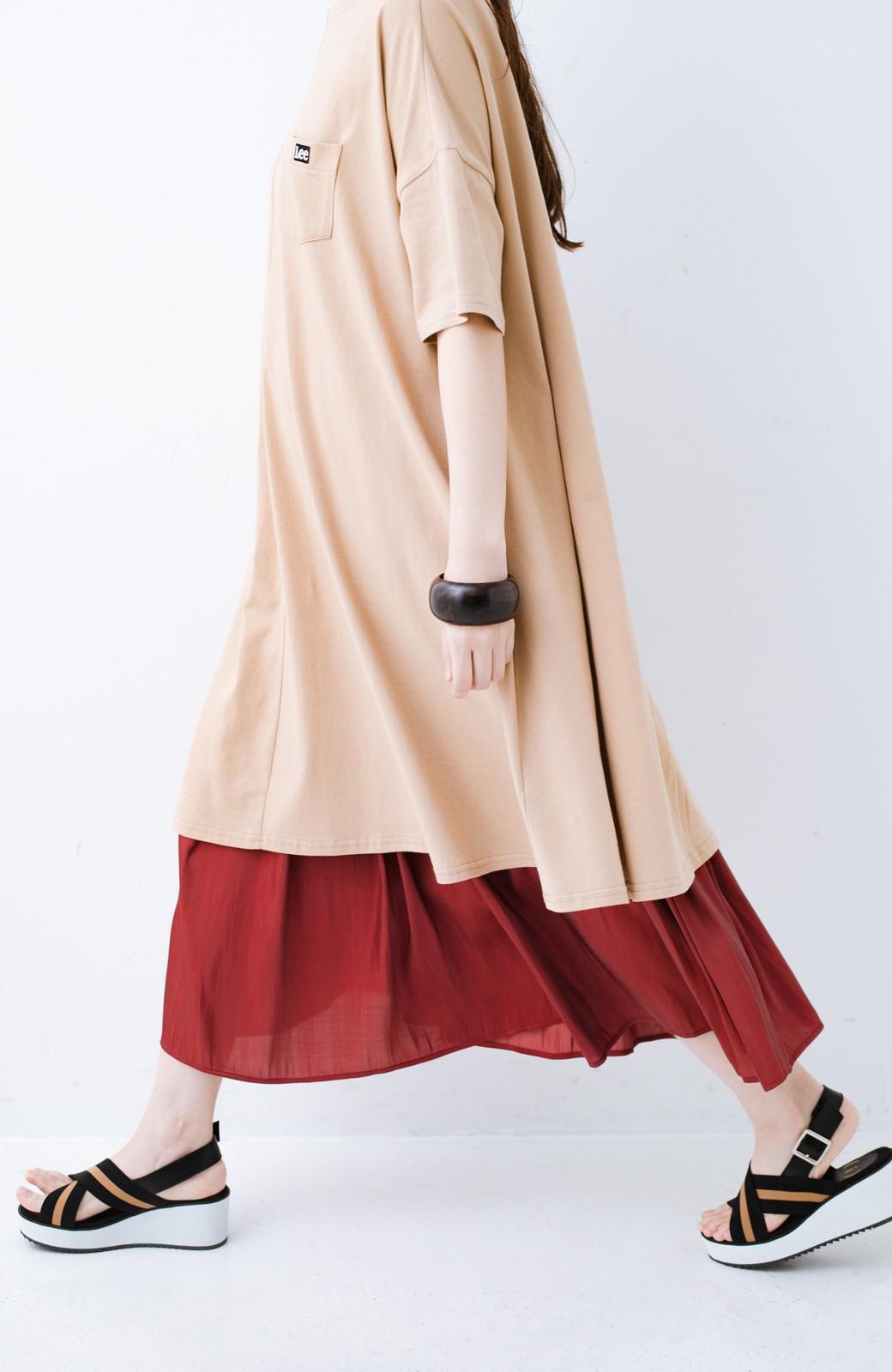 haco! 【人気のため新色追加!】1枚でも重ね着にも便利なキラキラ素材がかわいいロングスカート by laulea <ボルドー>の商品写真11