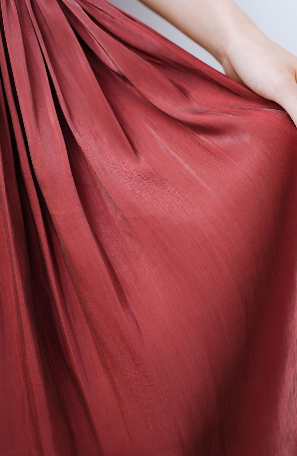 haco! 【人気のため新色追加!】1枚でも重ね着にも便利なキラキラ素材がかわいいロングスカート by laulea <ボルドー>の商品写真8
