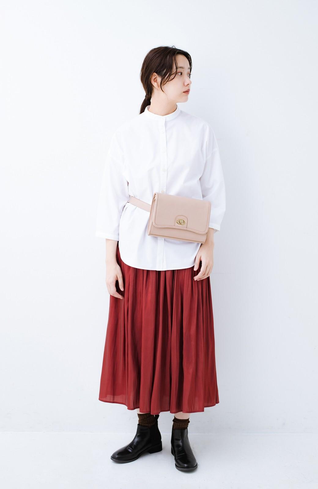 haco! 【人気のため新色追加!】1枚でも重ね着にも便利なキラキラ素材がかわいいロングスカート by laulea <ボルドー>の商品写真13