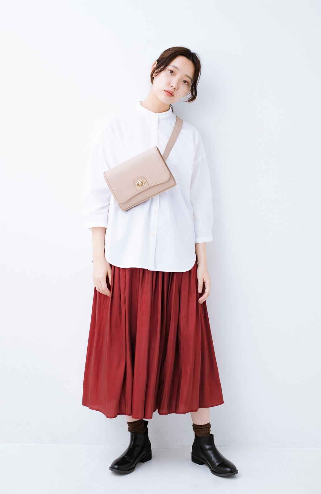 haco! 【人気のため新色追加!】1枚でも重ね着にも便利なキラキラ素材がかわいいロングスカート by laulea <ボルドー>の商品写真14