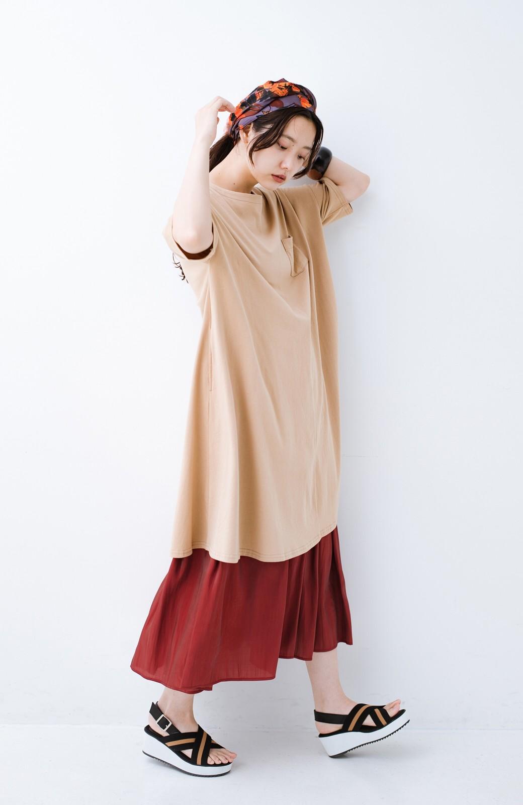 haco! 【人気のため新色追加!】1枚でも重ね着にも便利なキラキラ素材がかわいいロングスカート by laulea <ボルドー>の商品写真18