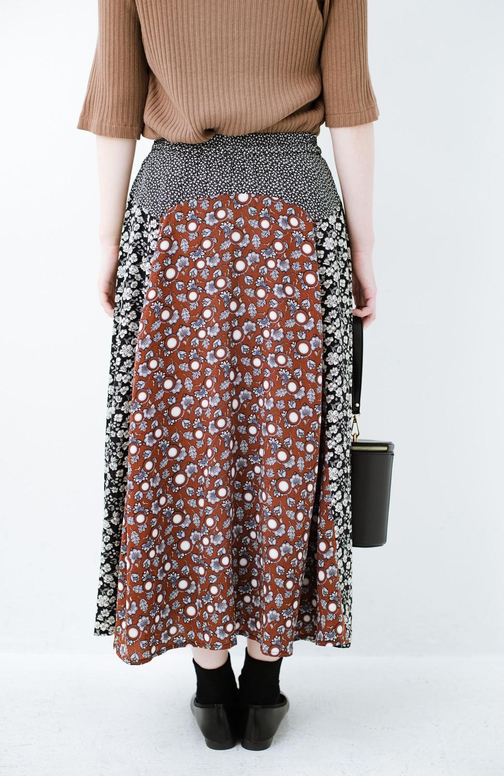haco! 【洗濯機洗いOK】シンプルなトップスに合わせるだけでかわいくなれる MIX柄スカート <ブラックミックス>の商品写真8