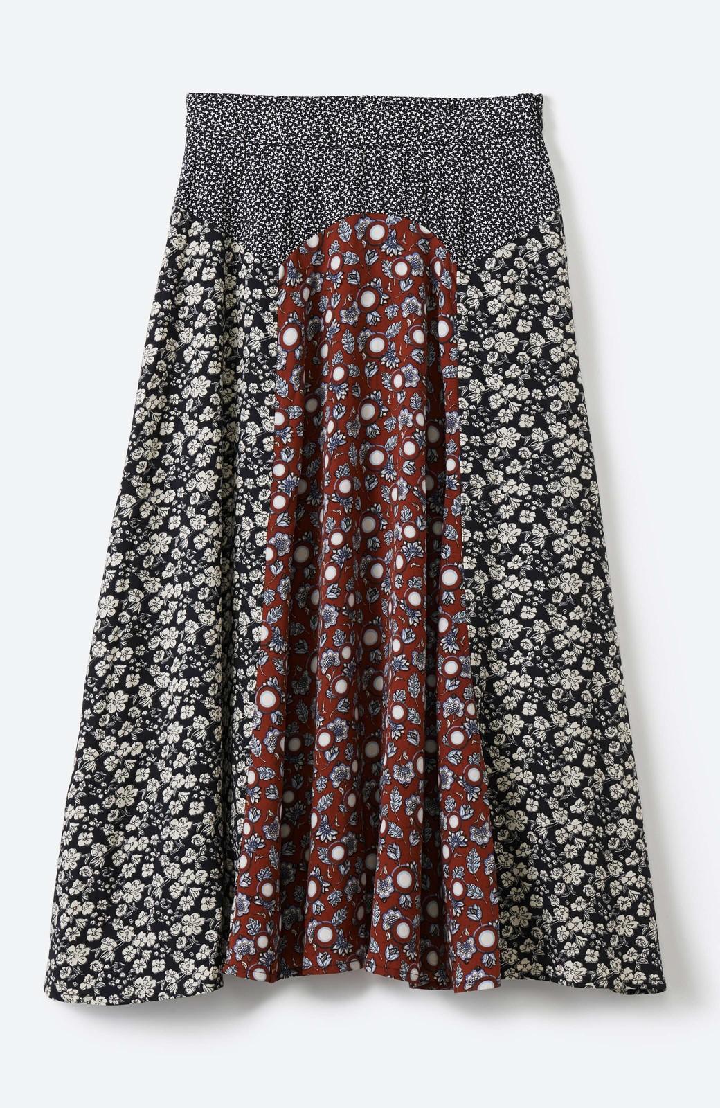 haco! 【洗濯機洗いOK】シンプルなトップスに合わせるだけでかわいくなれる MIX柄スカート <ブラックミックス>の商品写真20