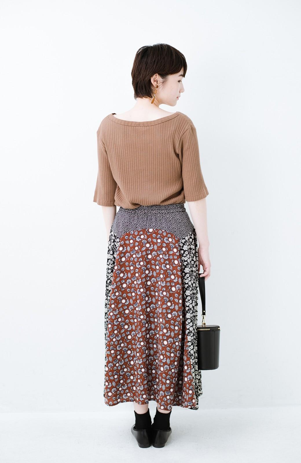 haco! 【洗濯機洗いOK】シンプルなトップスに合わせるだけでかわいくなれる MIX柄スカート <ブラックミックス>の商品写真15