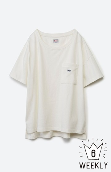 haco! 別注Lee パイルポケットTシャツ <ホワイト>の商品写真