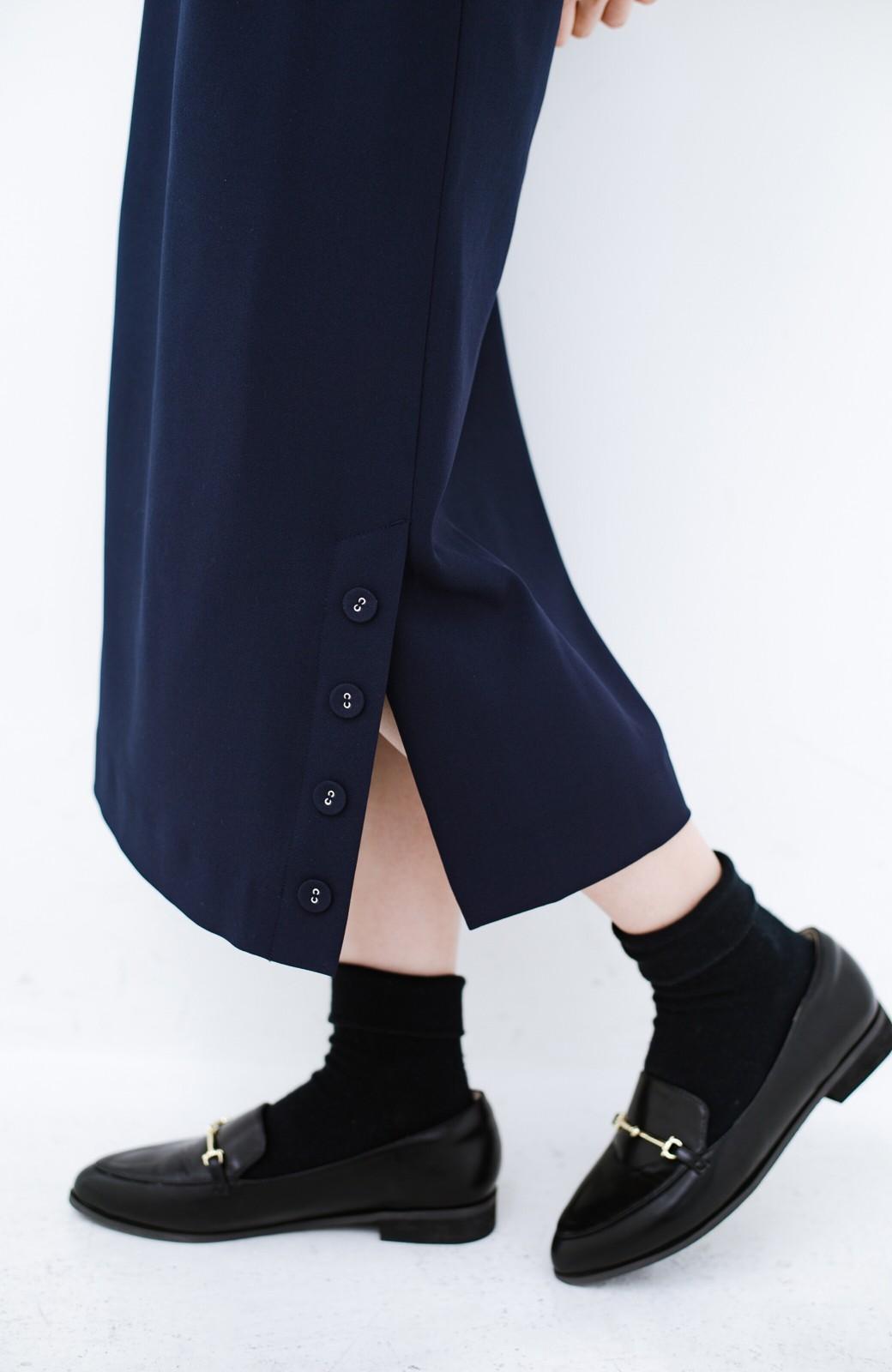 haco! 持っていると便利な 野暮ったくならないきれいめタイトスカート <ダークネイビー>の商品写真10