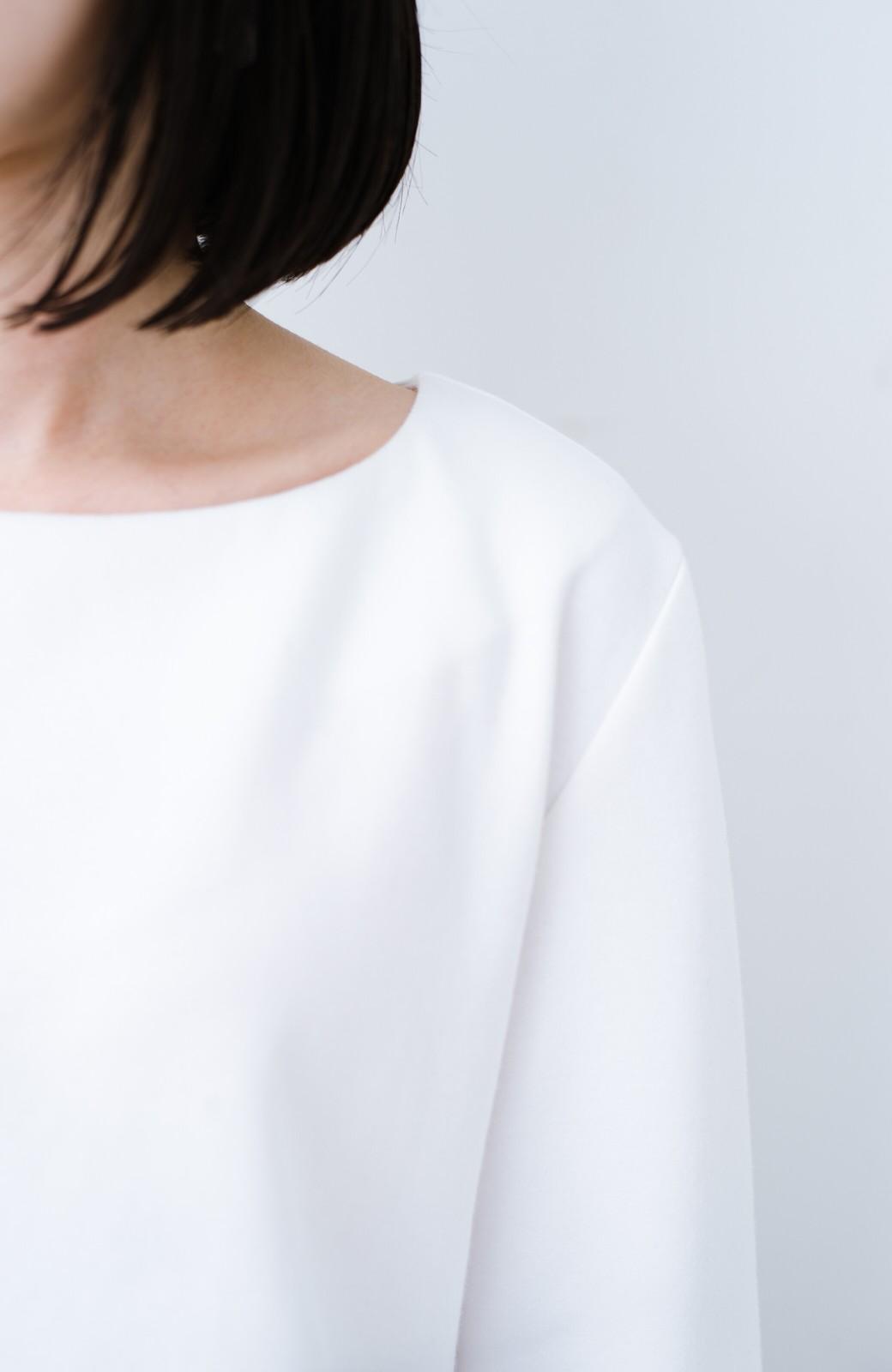 haco! Tシャツよりもきちんと見えてブラウスよりも動きやすい!カットソートップス <ホワイト>の商品写真4