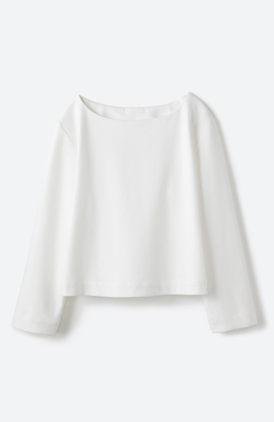 haco! Tシャツよりもきちんと見えてブラウスよりも動きやすい!カットソートップス <ホワイト>の商品写真16