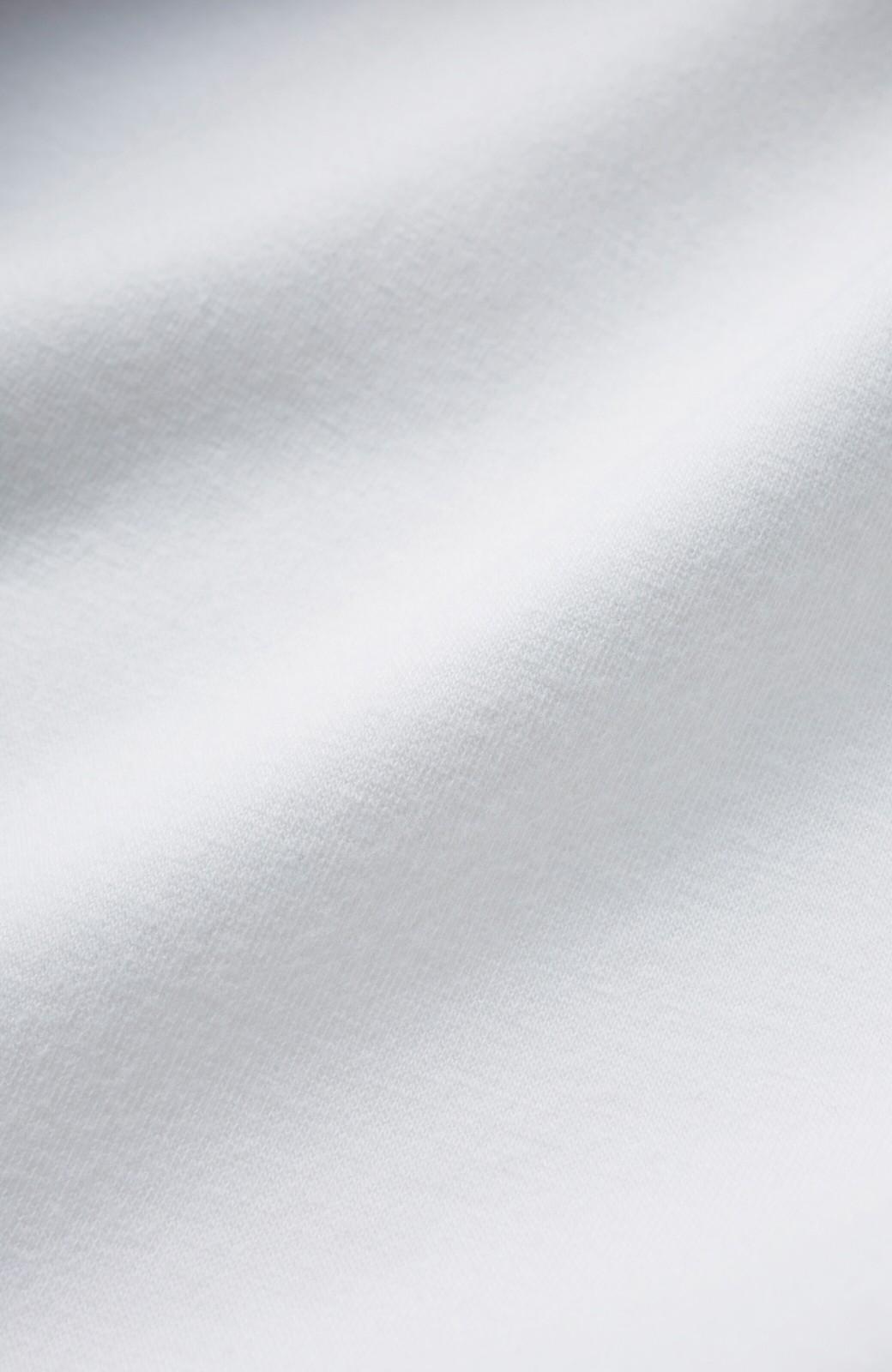 haco! Tシャツよりもきちんと見えてブラウスよりも動きやすい!カットソートップス <ホワイト>の商品写真3