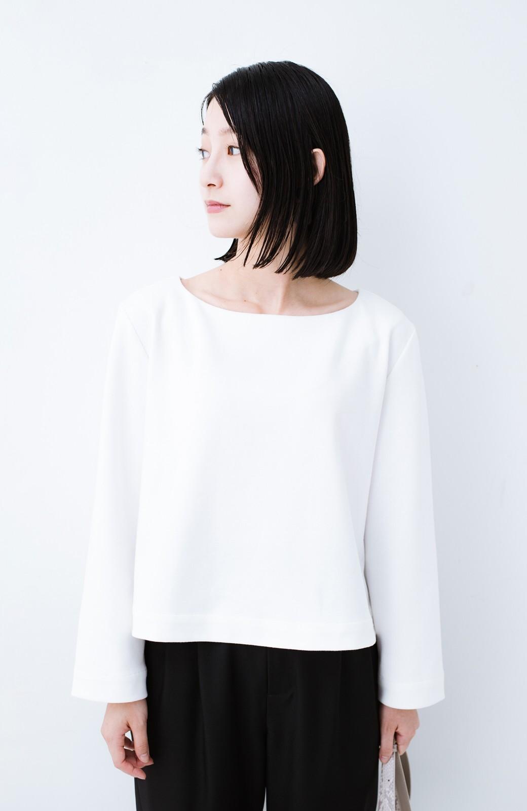 haco! Tシャツよりもきちんと見えてブラウスよりも動きやすい!カットソートップス <ホワイト>の商品写真11