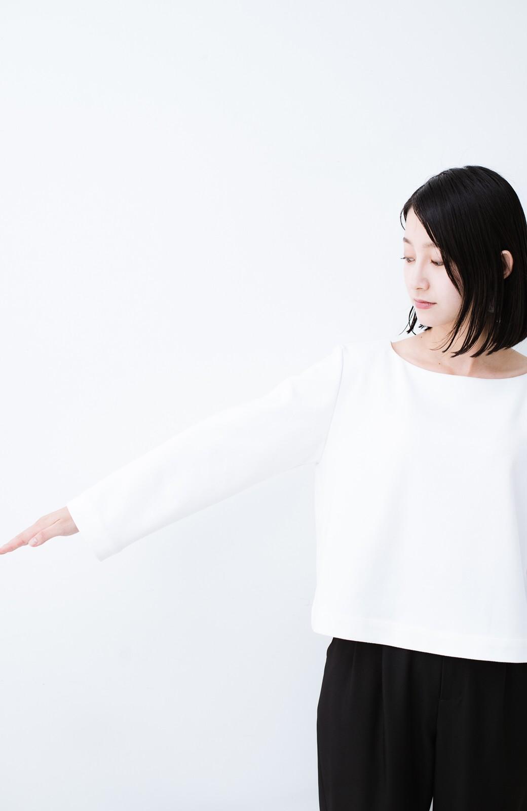haco! Tシャツよりもきちんと見えてブラウスよりも動きやすい!カットソートップス <ホワイト>の商品写真12