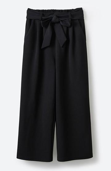 haco! きれいに見えて実は動きやすい!とにかく便利な短め丈パンツ by Nohea <ブラック>の商品写真