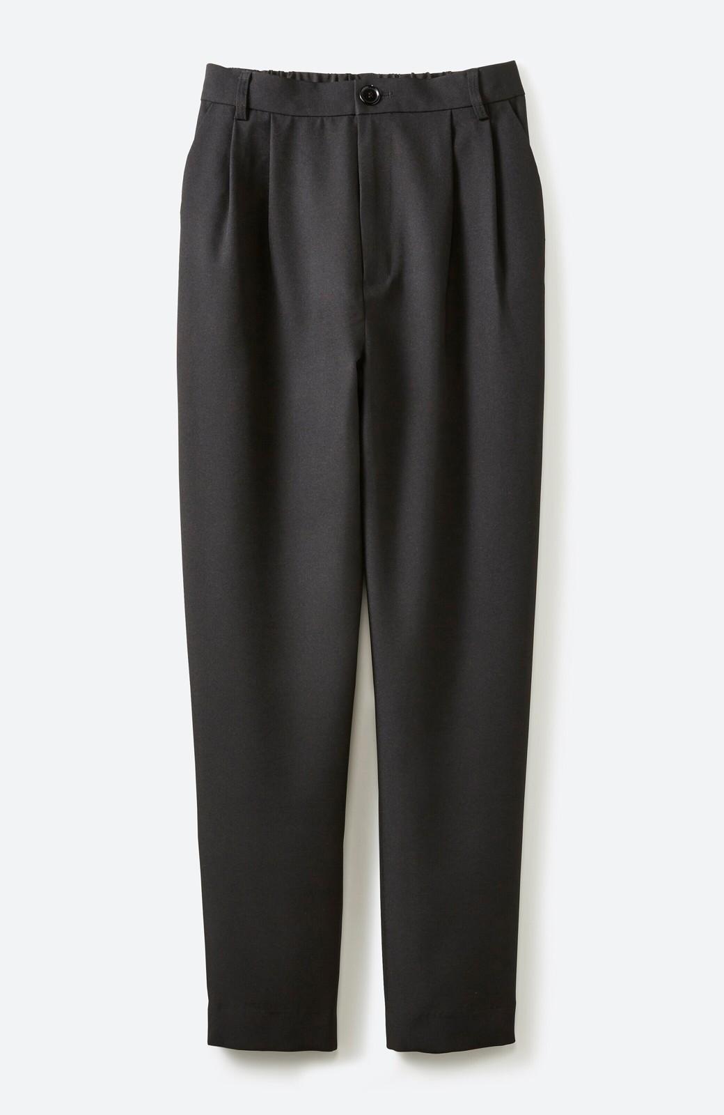 haco! 持っていると便利な野暮ったくならないフォーマルジャケット・パンツの2点セット <ブラック>の商品写真3