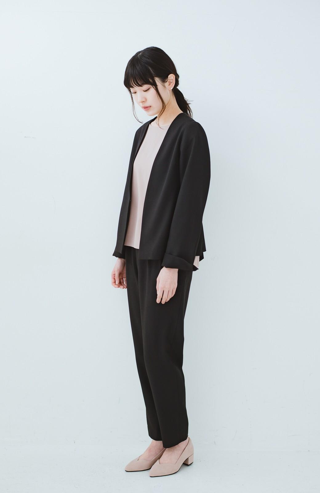 haco! 持っていると便利な野暮ったくならないフォーマルジャケット・パンツの2点セット <ブラック>の商品写真7