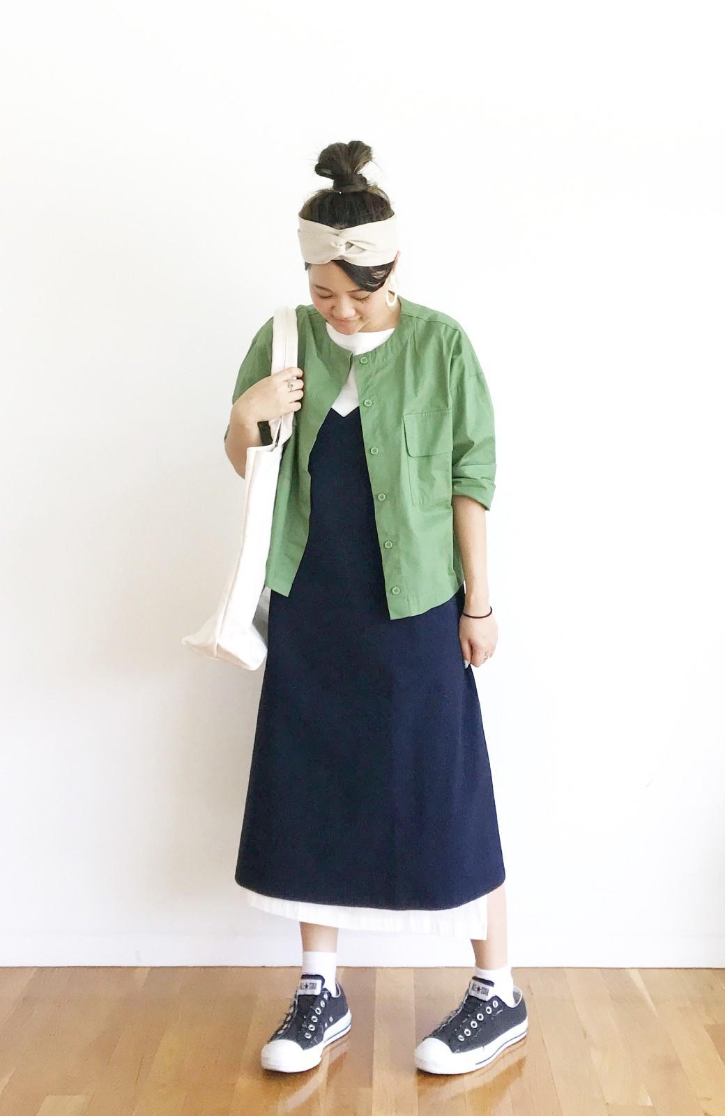 haco! 【ずぼら党】すぽっと着るだけ即完成! ずぼらさんのための気取らず着られて洗濯機洗いできるワンピ2枚セット <ホワイト×ネイビー>の商品写真12