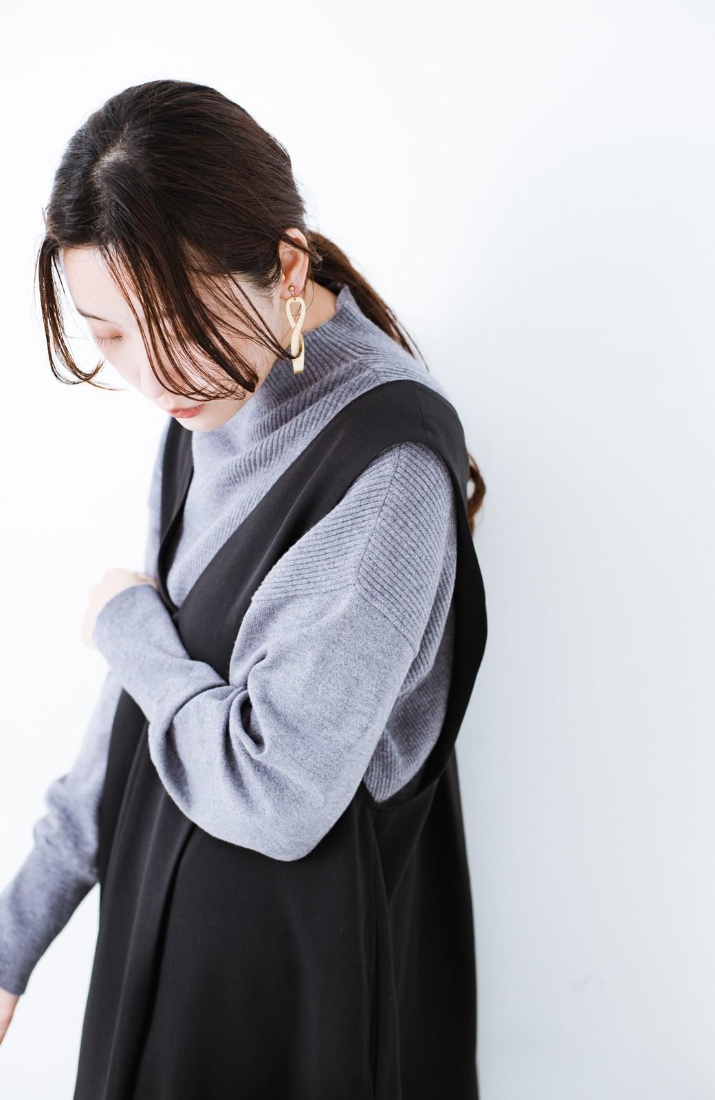 haco! Tシャツにもニットにもずーーっと着られて便利なジャンパースカート <ブラック>の商品写真4
